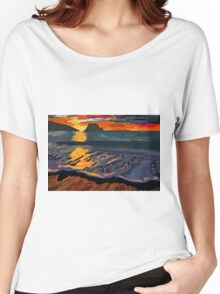 Foggy Sunset Women's Relaxed Fit T-Shirt