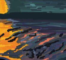 Foggy Sunset Sticker