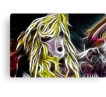 The Blonde Girl with Dishevelled Hair Canvas Print