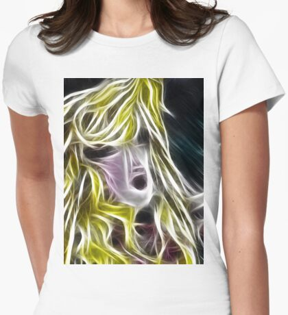 The Blonde Girl with Dishevelled Hair Womens Fitted T-Shirt