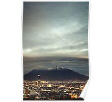 Cerro de la Silla nevado Poster