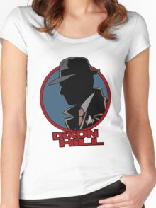 Dixon Hill is on the case Women's Fitted Scoop T-Shirt