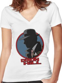 Dixon Hill is on the case Women's Fitted V-Neck T-Shirt