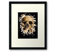 Rotten Skull – brownish Framed Print