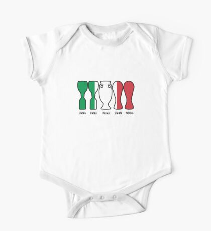 Italy World Cup and European Championship Trophy Cabinet One Piece - Short Sleeve