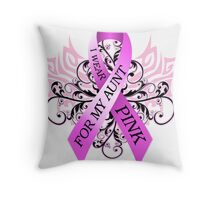 I Wear Pink For My Aunt (w) Throw Pillow
