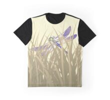 Dragonfly In Tall Grass Graphic T-Shirt