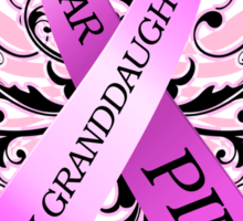 I Wear Pink For My Granddaughter (w) Sticker
