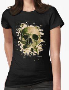 Rotten Skull – greenish Womens Fitted T-Shirt