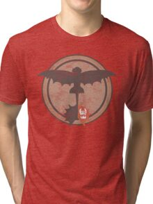 Distressed Night Fury Silhouette  Tri-blend T-Shirt