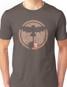 Distressed Night Fury Silhouette  Unisex T-Shirt