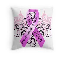 I Wear Pink For My Great Grandma (w) Throw Pillow