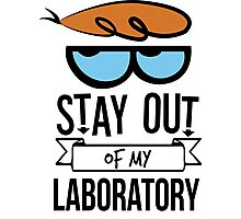 Stay Out of My Laboratory - Dexter Photographic Print