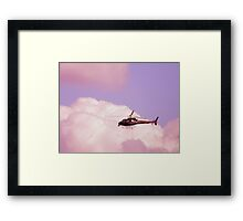 Cotton Candy Helicopter  Framed Print