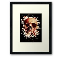Rotten Skull – reddish Framed Print