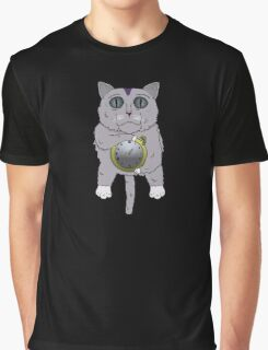 The Cat holds the Time Graphic T-Shirt