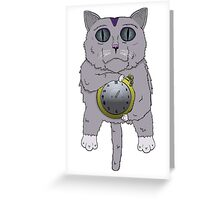 The Cat holds the Time Greeting Card