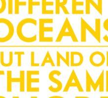 Different Oceans Sticker