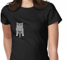 The Cat holds the Time Womens Fitted T-Shirt