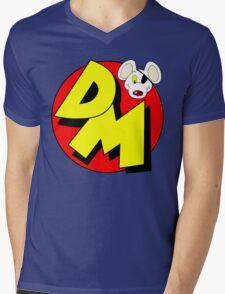 Danger Mouse Logo Mens V-Neck T-Shirt