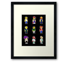 Yellow People Sprites Framed Print