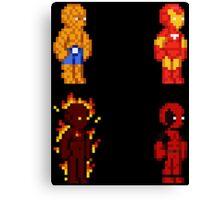 Marvel Pixel Heroes! Canvas Print