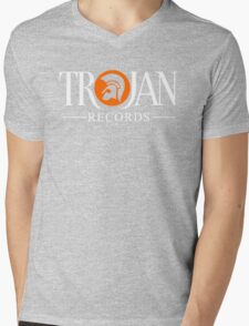 TROJAN RECORDS LOGO STYLE Mens V-Neck T-Shirt