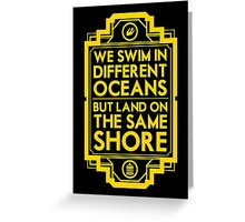 Different Oceans Greeting Card