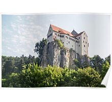 Schloss overlooking the Rhine–Main–Danube Canal near Regensburg, Bavaria, Germany  Poster