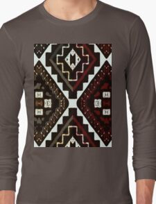 Navajo Earth Tones Long Sleeve T-Shirt