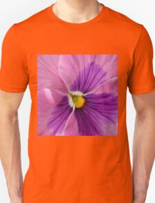 Pink Purple Pansy  Unisex T-Shirt
