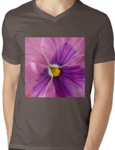 Pink Purple Pansy  Mens V-Neck T-Shirt