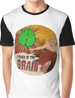 Attack of the Brain Graphic T-Shirt