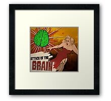 Attack of the Brain Framed Print
