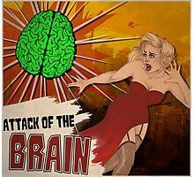 Attack of the Brain Photographic Print