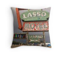 Lasso Motel Throw Pillow