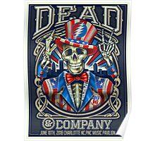 DEAD & COMPENI 2016 - CHARLOTTE NC.PC MUSIC PAVILION Poster