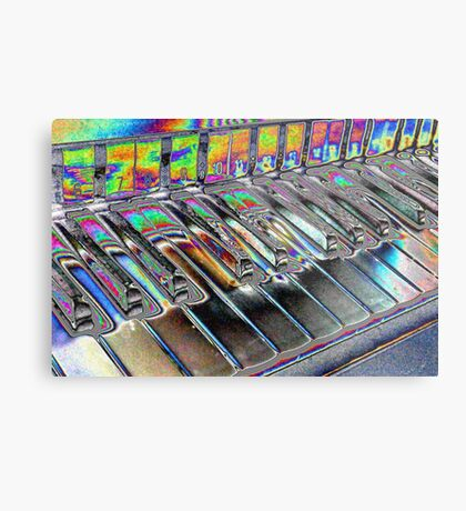 Abstract Organ Keys Metal Print