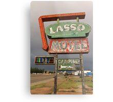 Lasso Motel Metal Print