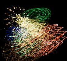 Fireworks Variation # 4 by OrPhotoJohn