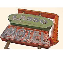 Lasso Motel, Route 66 Photographic Print