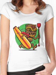 Let's Go Surfing  Women's Fitted Scoop T-Shirt