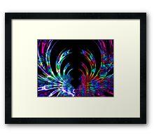 Rainbow and Black Fractal Design Framed Print