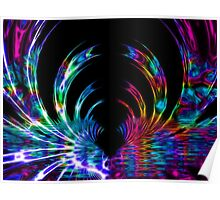 Rainbow and Black Fractal Design Poster