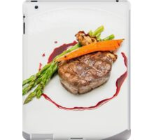 Fillet Steak medallion with vegetables on a plate  iPad Case/Skin