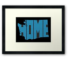 Washington HOME state design Framed Print