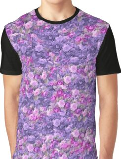 Vintage Gothic Rose Radiant Orchid Purple Graphic T-Shirt