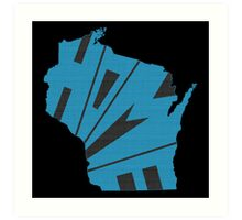 Wisconsin HOME state design Art Print