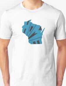 Wisconsin HOME state design Unisex T-Shirt