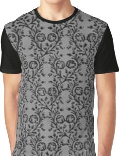 Vintage Floral Charcoal Pewter Graphic T-Shirt